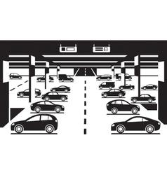 Underground car parking vector image