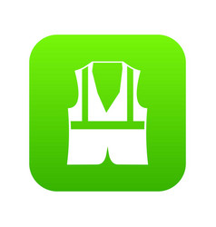 vest icon digital green vector image