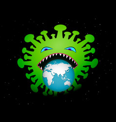virus attack and eatting our world art vector image