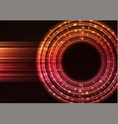 warm circle digital abstract sheet background vector image
