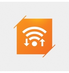 Wifi signal sign Wi-fi upload download symbol vector