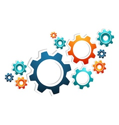 Working gears teamwork vector image