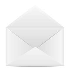 Blank paper envelope for letters vector image