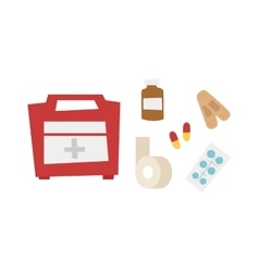 Car medical kit vector image vector image