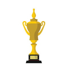 champion cup for winner in flat style vector image vector image
