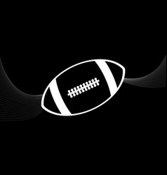 rugby american football white silhouette and vector image vector image
