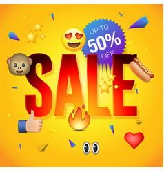 sale poster or flyer design vector image vector image