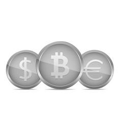 silver money coin vector image