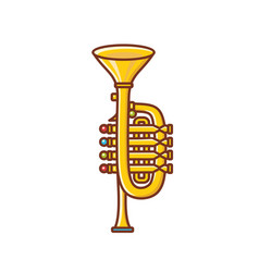 trumpet childrens toy vector image
