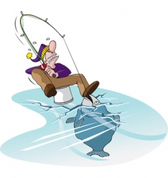 thin ice vector image vector image