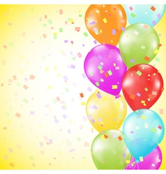 background with bright colorful balloons vector image vector image