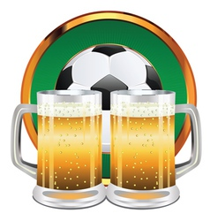 Beer and Soccer Ball5 vector image vector image