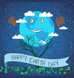 cartoon for earth day planet vector image