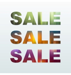 Colorful Sale Labels Set vector image vector image