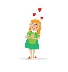 girl dreams of love vector image vector image
