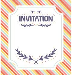 Invitation template vector