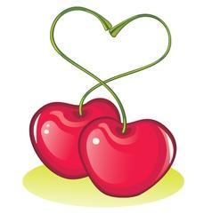 love cherries vector image vector image