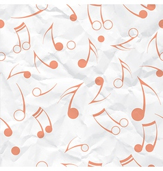 Music note paper texture vector image vector image