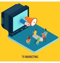 TV marketing concept vector image vector image