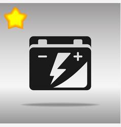 black car battery icon button logo symbol concept vector image