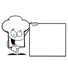 Chef Hat Guy Presenting A Blank Sign vector image