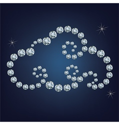 Cloud made up a lot of diamonds vector image vector image