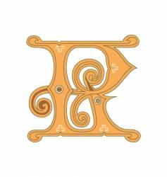 golden letter r vector image vector image