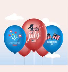holiday balloons 4th of july national vector image