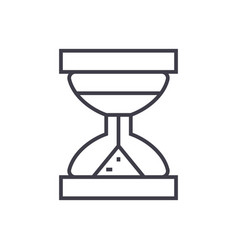 hourglass line icon sign on vector image vector image