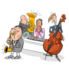 musicians characters playing jazz music vector image vector image