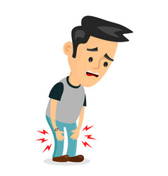 pain in the legs problems flat vector image