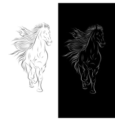 Silhouette of Horse in vector image vector image