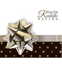 the silver bow vector image vector image