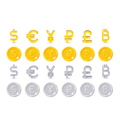 world currency signs and coins vector image