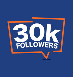 30k followers template vector