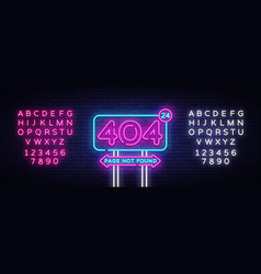 404 page not found banner 404 error design vector image