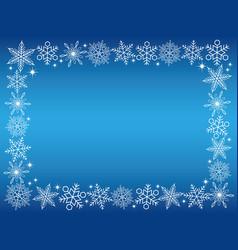 a snow crystal rectangular frame vector image