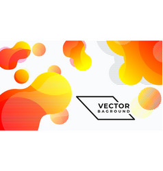 Abstract bannerbag round liquid colors and lines vector