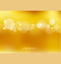 abstract gold blurred background with circles vector image