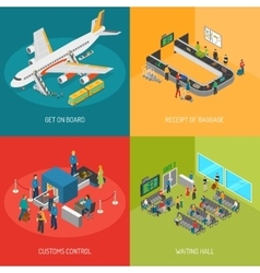 Airport 2x2 Images Concept vector