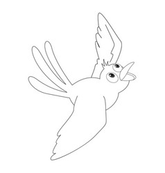 animal outline for bird flying vector image
