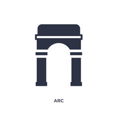 Arc icon on white background simple element from vector