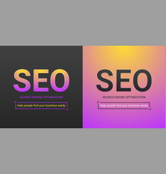 Banner of search engine optimization vector
