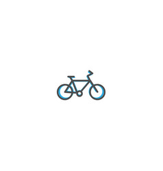 bicycle icon design transportation icon design vector image