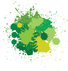 blots in green tones vector image vector image