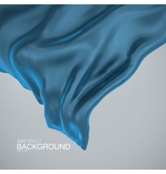 Blue silk fabric vector