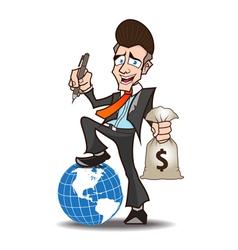 Businessman powerful cartoon vector
