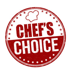 Chefs choice grunge rubber stamp vector