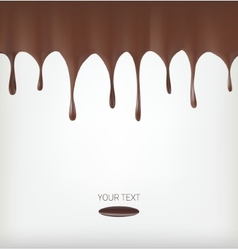 Chocolate streams vector image