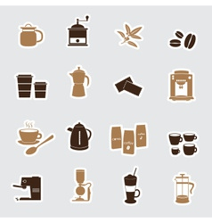 Coffee stickers eps10 vector